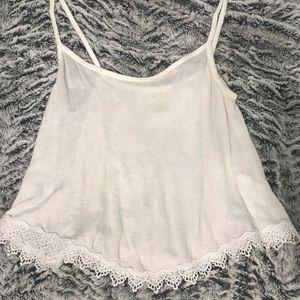 PacSun white floral top